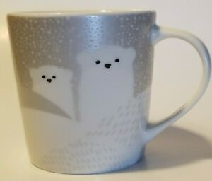 2-Starbucks-Christmas-Holiday-2016-Cups-Coffee-Mugs-8-oz-Polar-Bears-in-the-Snow