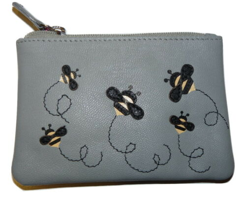 Bumble Bee Coin Purse by Mala Leather /& gift dustbag 4171 10 soft leather MISCHA