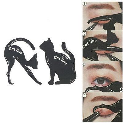 2pcs/set Cat Line maquillage outil eye-liner pochoirs gabarit modèle-façonneur T
