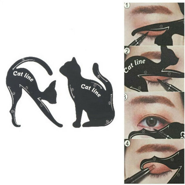 2x/Set Newest Cat Line Eye Makeup Tool Eyeliner Stencils Template Shaper ModelSP