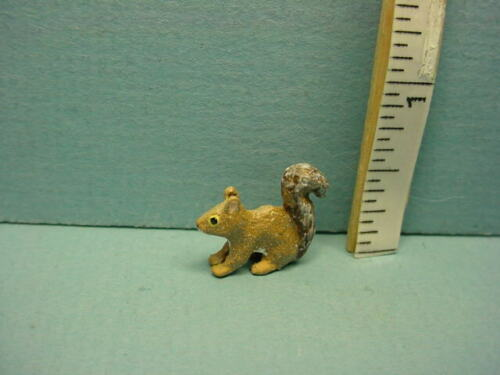 Miniature Walking Squirrel Painted Metal Barbara Meyer 1//12th Scale