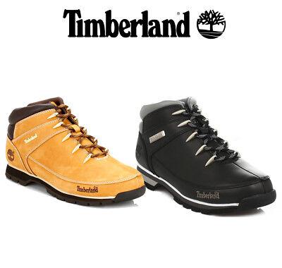 Da Uomo Timberland Euro Sprint Escursionista Stivali, Nero o Giallo Grano, scarpe di pelle | eBay