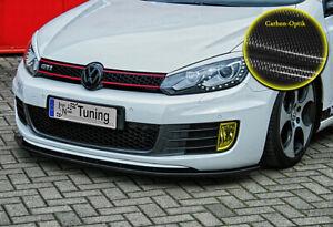Spoilerschwert-Frontspoiler-aus-ABS-fuer-VW-Golf-6-GTI-GTD-ABE-Carbon-Optik