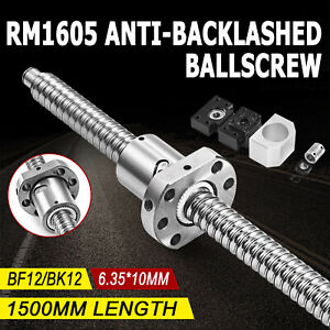 Ball-Screw-1605-1500mm-Lead-Rod-Machined-Shaft-Coupling-BF12-BK12-End-Support