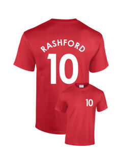 sneakers for cheap 3ade6 5eb12 Details about Marcus Rashford Manchester United No.10 Kids Football T-Shirt