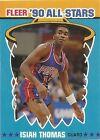 1990 - 1991 Fleer All-Stars Isiah Thomas Detroit Pistons #6 Basketball Card