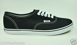 Vans-Shoes-Authentic-Lo-Pro-Canvas-Women-Men-Black-True-White-Sneakers
