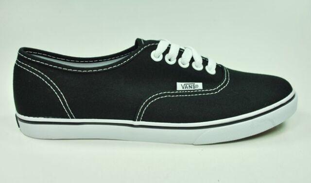 8fa439ac1d VANS Authentic Lo Pro Skate Shoes Black True White Canvas Men 8 for ...