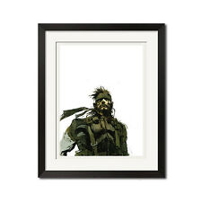 Metal Gear Solid Snake Graphic Art Poster Print