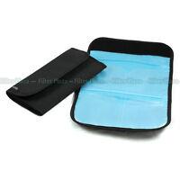4 Pockets Holder Pouch Wallet Case for 25mm-82mm UV CPL ND Filter 4 Slots Black
