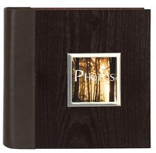 Manhattan Two Tone Wood Veneer Bookbound Memo Slip In Photo Album 200 6x4 Photo