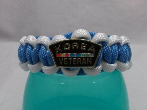 Handmade Korea Veterans Paracord Survival Bracelet You Pick 11 Sizes 7 Closers