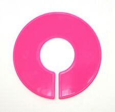 Pink Round Plastic Blank Rack Size Dividers Multi Pack