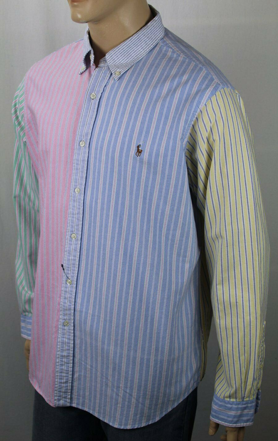 Ralph Lauren Multi colord Stripe Classic Dress Shirt Multi color Pony NWT
