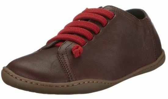 Camper Peu Cami 20848 020 Chocolate Red Womens Leather Lo Trainers shoes Boots