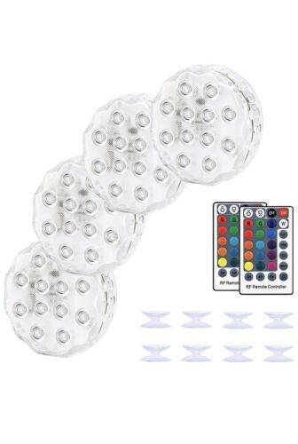 Kohree Submersible LED Lights with Remote RF 164FT Remote Range 4 Pack W Magnets