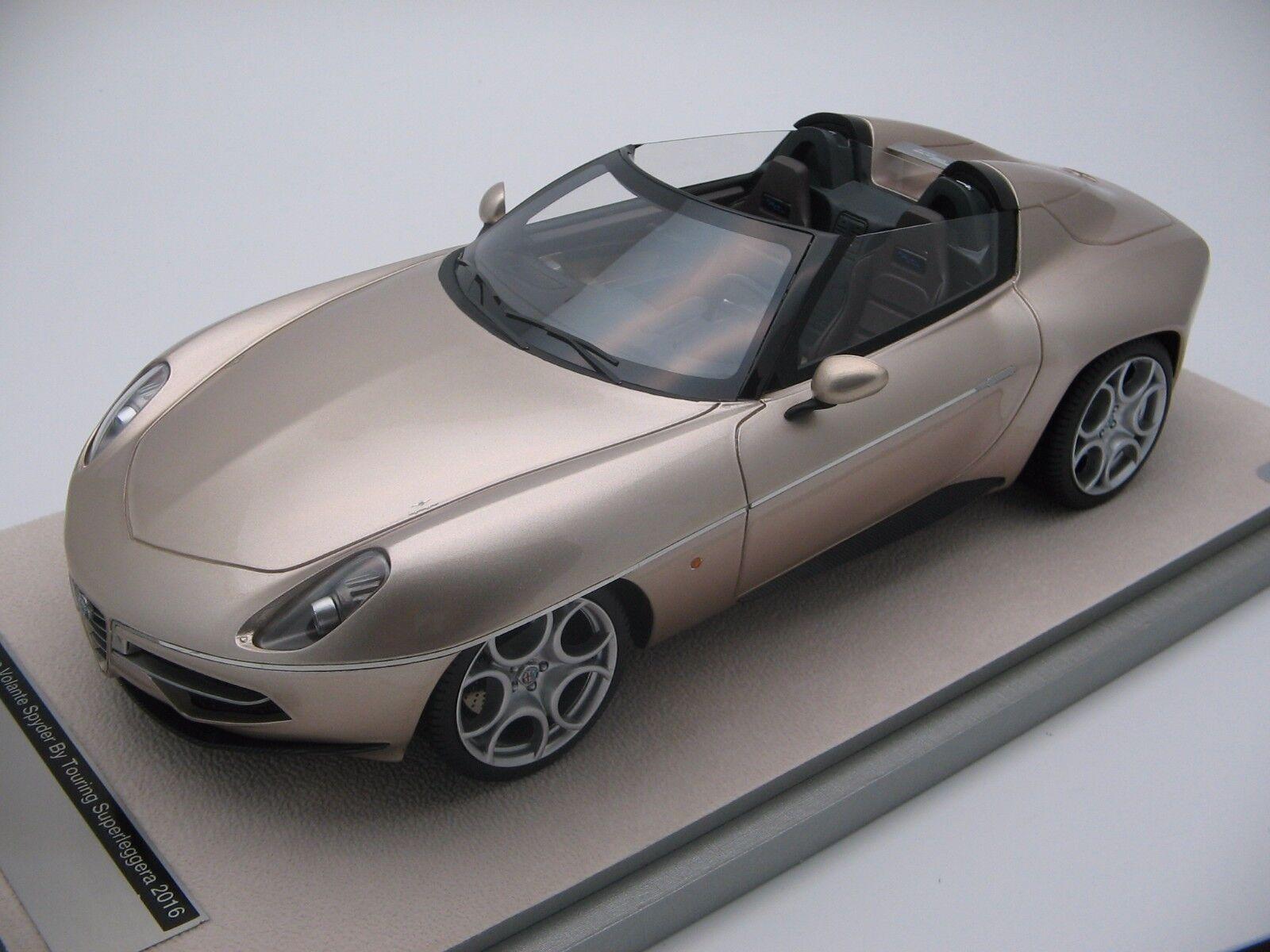 1 18 Échelle Tecnomodel Alfa Romeo Disque Volant Spyder By Touring Tm18-68d