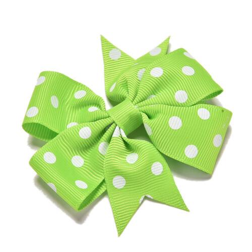 "20X Handmade Bow Hair Clip Alligator Clips Girls Ribbon Kids Sides Accessories"""""