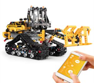 Bausteine-Engineering-Gabelstapler-Transport-Spielzeug-Geschenk-Modell-Kind