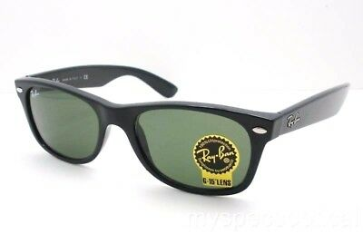Ray Ban New Wayfarer 2132 901 New Black Green G15 Sunglasses AUTHENTIC