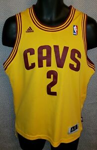 on sale 9e51a e5ce9 Details about Cleveland Cavaliers Kyrie Irving Gold Adidas Stitched Jersey  - Boys L Womens M