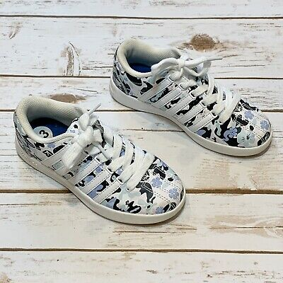 K-Swiss Low Top Floral White Sneakers