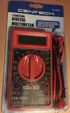 24 Leads Cen Tech 7 Function Digital Multimeter Tool Lcd 98025 Free Shipping