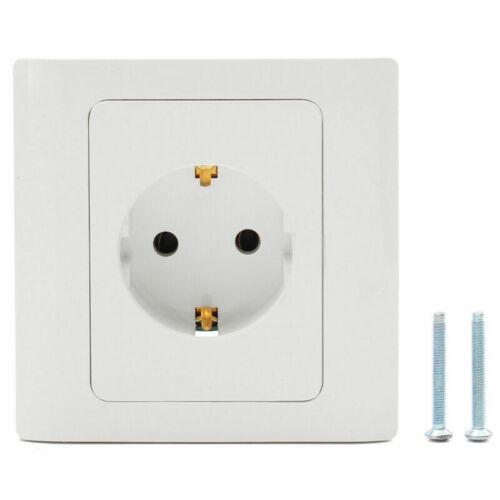 European EU German Standard 250V 16A 1 Gang Power Outlet Single Plug Wall Socket