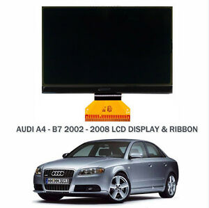 AUDI-A4-B6-B7-LCD-Monochrome-ecran-LCD-amp-ruban-cable-remplacement-Neuf-02-gt-08