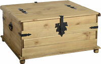 Corona Mexican Pine Double Storage Trunk Coffee Table Free Next Day Delivery