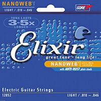 3 SETS ELIXIR 12052 NANOWEB ELEC GUITAR STRINGS 10-46