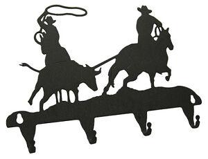 Team-Roping-Steer-Rodeo-Key-Hook-Holder