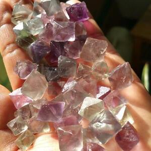 50g-Fluorite-Octahedron-Reiki-Tumbled-Stone-Gemstones-Crystal