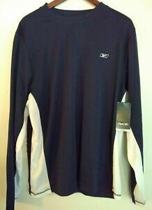 Reebok Men/'s L//S Compression Shirt Navy XL