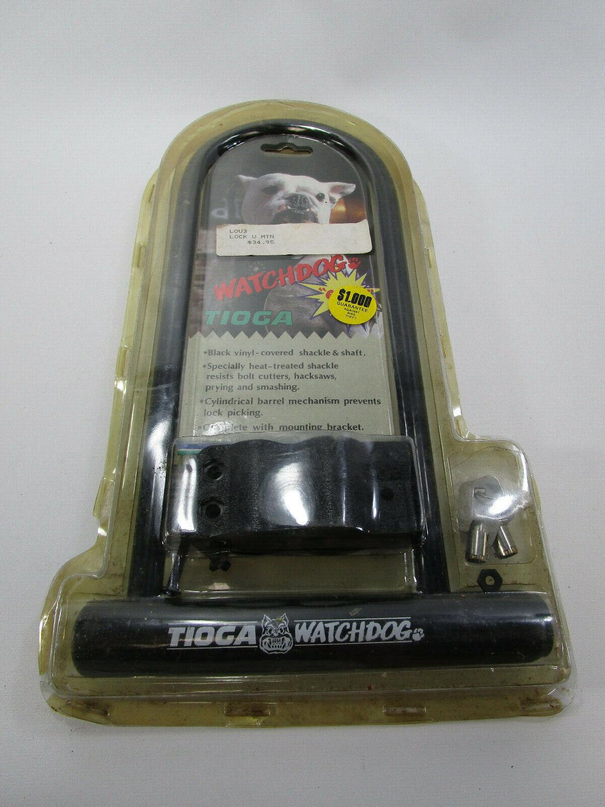 Vintage Tioga Watchdog U-bar Bike Lock contra robos de bicicletas BMX Nuevo Viejo Stock