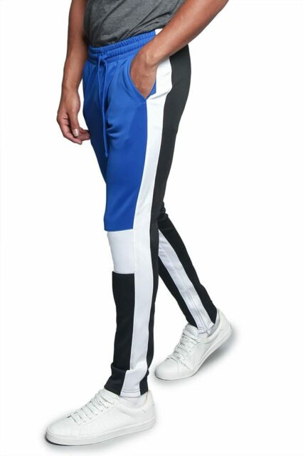 TR587-DD12G NWT Men/'s Contrast Drawstring Sports Workout Techno Trackpants