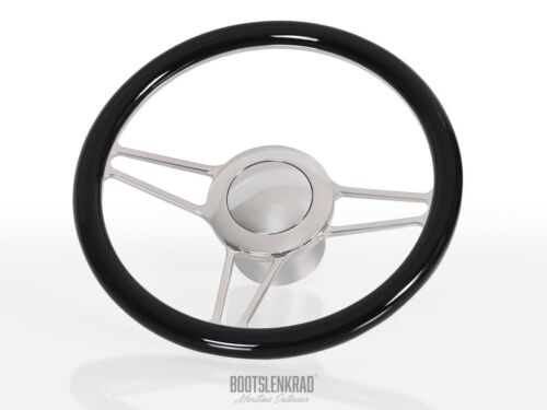 Premium Bootslenkrad Octo schwarz Sealine Teleflex Ultraflex Lenkung 50613000