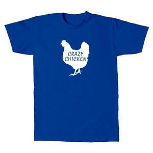 Herren-T-Shirt-Crazy-chicken-Style-Design