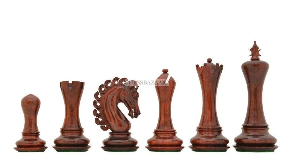 The Empire II Luxury Staunton Chess Set in Bud pink   Box Wood - 4.6  King VJ100