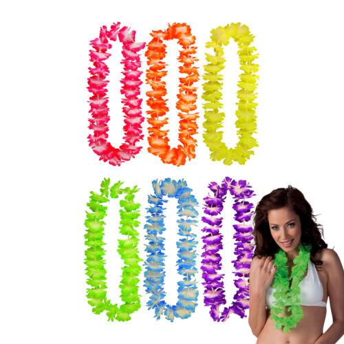 Hula Girl Garland Lei Fleur Collier-Hawaïen Fête accessoire robe fantaisie lot