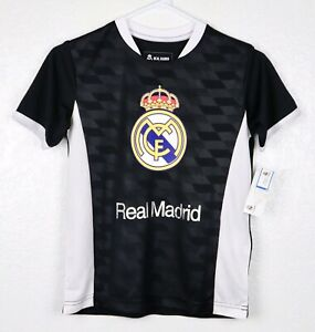 best service 115a0 8e285 Details about Real Madrid #7 Official T-Shirt Youth Unisex Sz Small  Cristiano Ronaldo Black