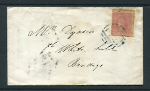 VICTORIA-1860-COVER-FROM-BARRED-NUMERAL-42-RRR-TO-WHITE-HILLS-FINE-amp-SCARCE
