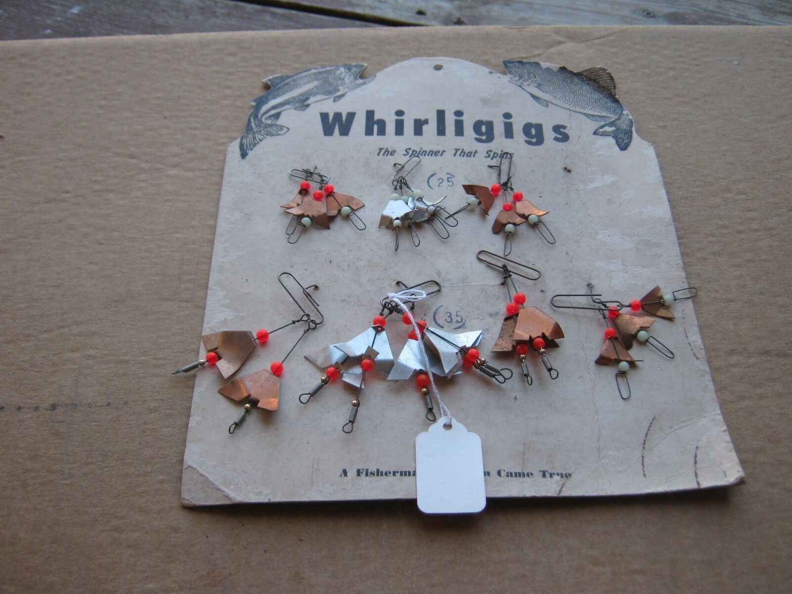 Vintage Whirligigs The Spiiner That Spins Fisherman's Fishing Nautical Decor   looking for sales agent