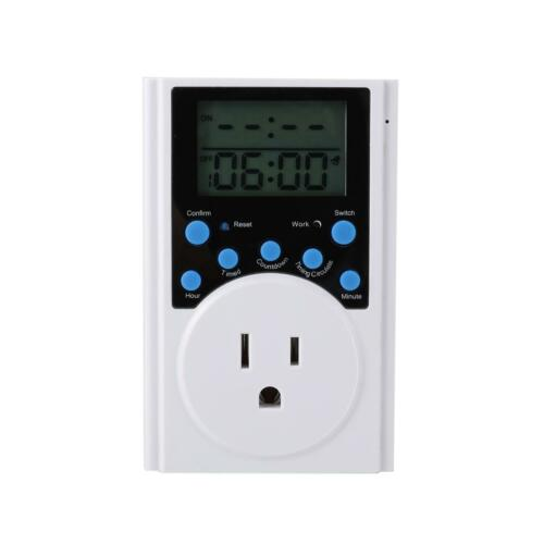Multifunctional Timer Outlet Infinite Cycle Programmable Plugin Switch Socket