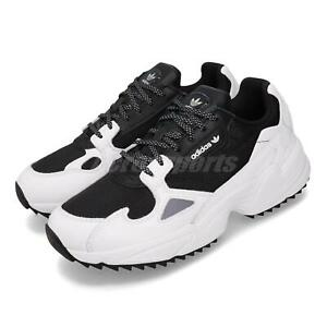 Details about adidas Falcon Trail Black White Women Retro Running Shoes  Outdoor Sneaker EF9024