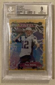 Tom-Brady-2015-Topps-Finest-95-Metal-Gold-3-10-BGS-9-triple-9-5-Subs