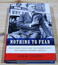 ADAM COHEN NOTHING TO FEAR SIGNED 1st EDITION NEW & UNREAD PRESIDENT FDR