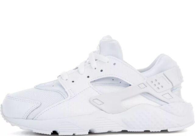 PS Boys Nike Huarache Run 704949-110 White//White NEW Size 2Y