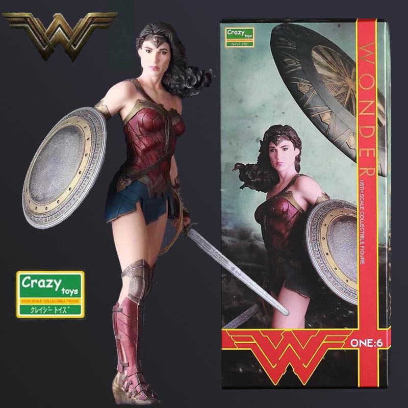 Dc comics verrückte spielzeuge gerechtigkeitsliga wonder woman actionfigur statue spielzeug als geschenk