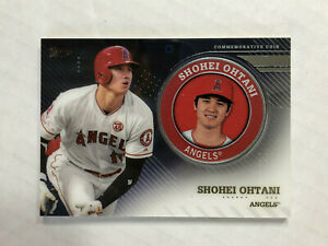 SHOHEI OHTANI 2020 Topps Series 2 COMMEMORATIVE MEDALLION SP RC COIN! ANGELS!